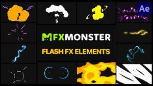 پروژه آماده المان کارتونی Cartoon Flash FX افترافکت