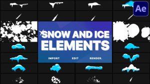 ترانزیشن یخ و برف افترافکت Snow And Ice Elements