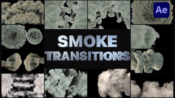 ترانزیشن دود افترافکت Real Smoke Transitions