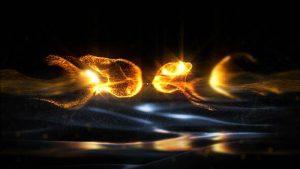پروژه آماده لوگو طلایی پریمیر Gold Particles Logo