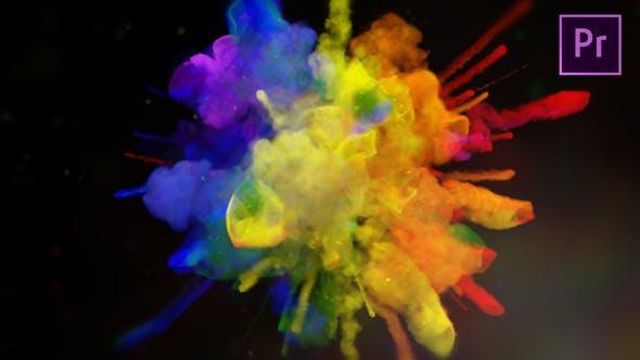 پروژه آماده لوگو رنگارنگ پریمیر Exploding Colors Logo Reveal