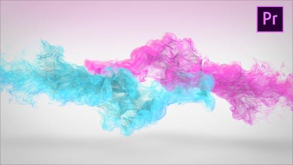 پروژه آماده لوگو ذرات معلق پریمیر Mixing Particles