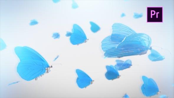 پروژه آماده لوگو پروانه پریمیر Butterfly Logo